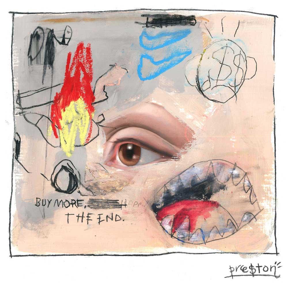 Eyes of Preston Paperboy, the artist